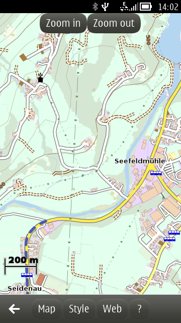 Vectorial Map for Symbian